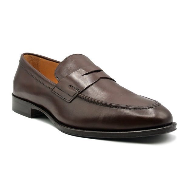 ROMA Calfskin Penny Loafer, Nicotine