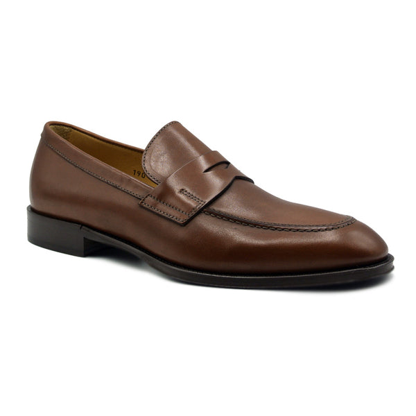 15-200-RST ROMA Calfskin Penny Loafer, Rust