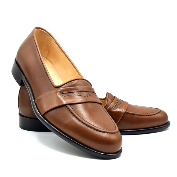 15-203-CHL SAVANNAH Calfskin Penny Loafer, Chili