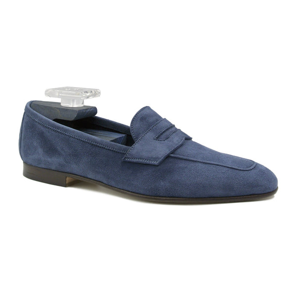 TASCA Italian Sueded Kid Loafer Blue