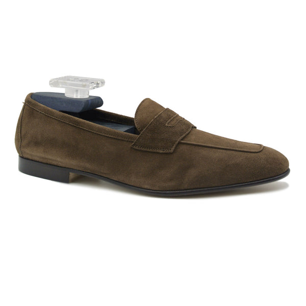 TASCA Italian Sueded Kid Loafer Cafe