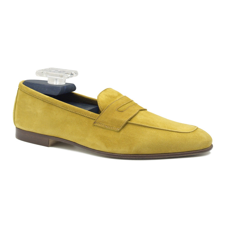 16-100-MUS TASCA Italian Sueded Kid Loafer Mustard