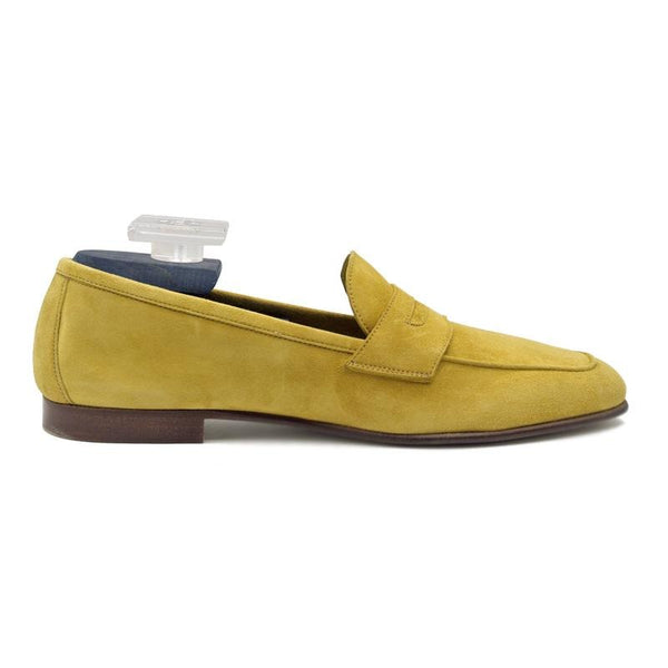 TASCA Italian Sueded Kid Loafer Mustard