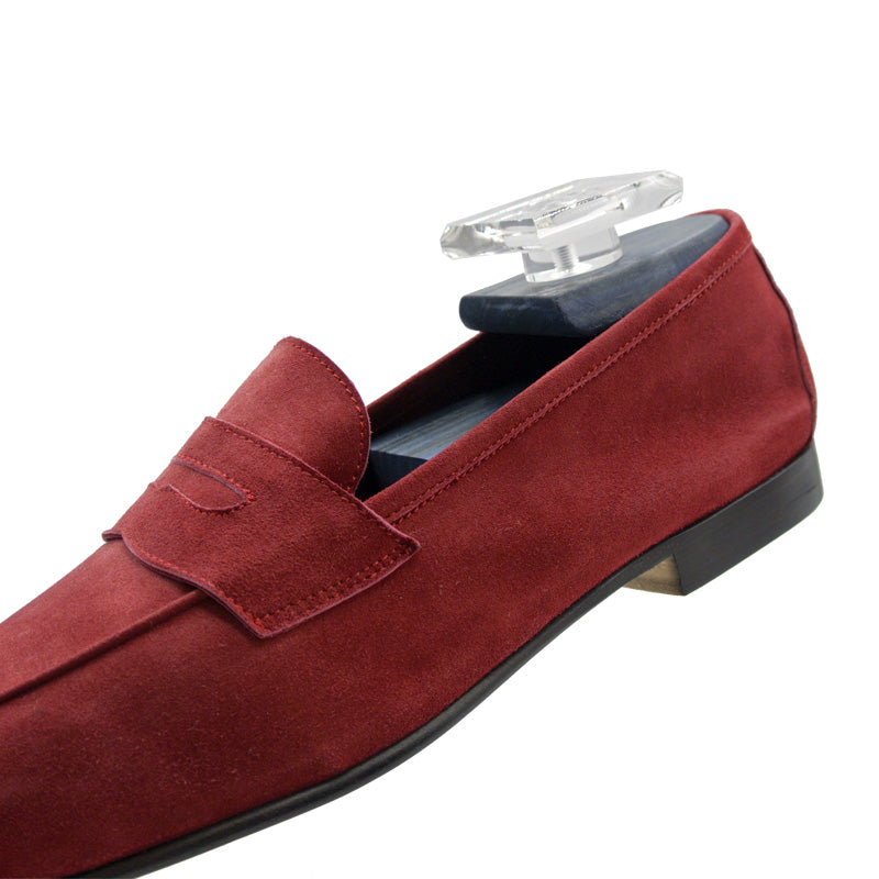16-100-RED TASCA Italian Sueded Kid Loafer Red