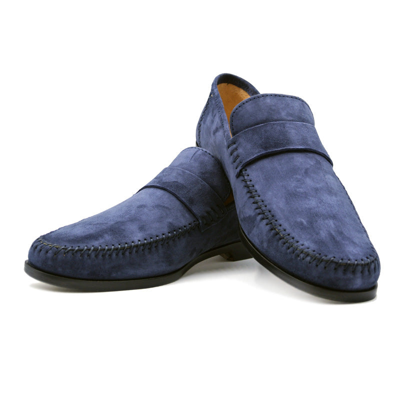 16-500-NVY PARMA Sueded Loafer, Navy