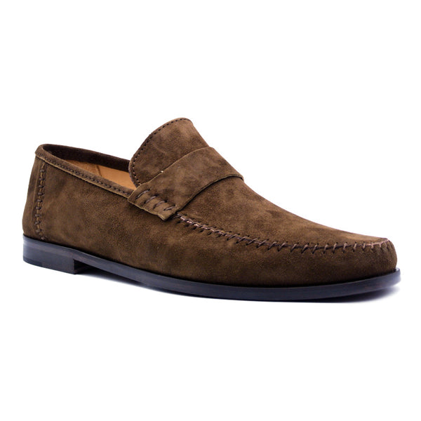 16-500-TAB PARMA Sueded Loafer, Tobacco