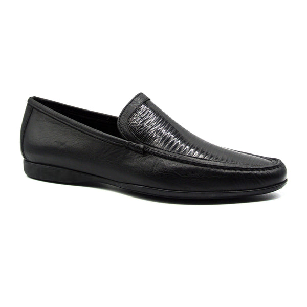 TRENTO Lizard & Calf Black