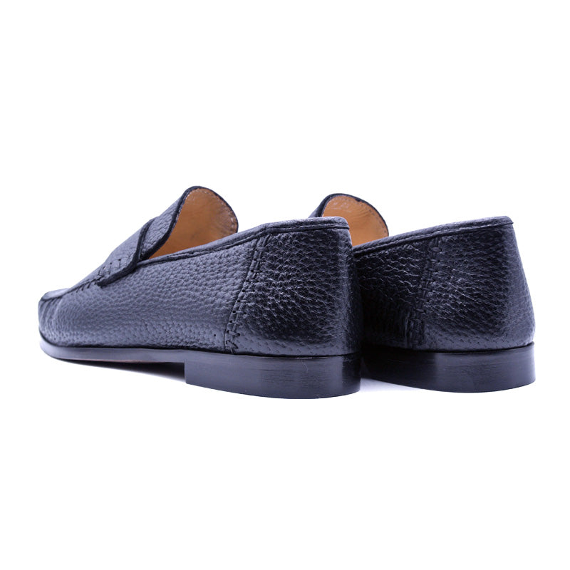 19-025-BLK PARMA Peccary Loafer, Black