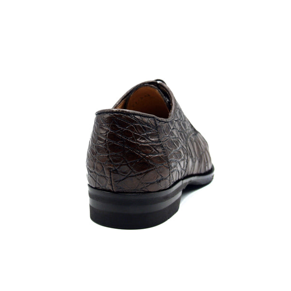 21-532-CGM ANDREA Crocodile Lace Up, Cognac