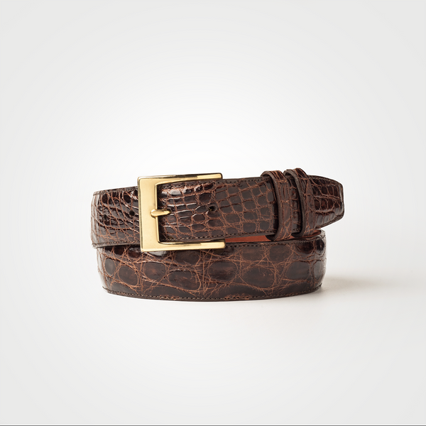 Crocodile Belt - Brown