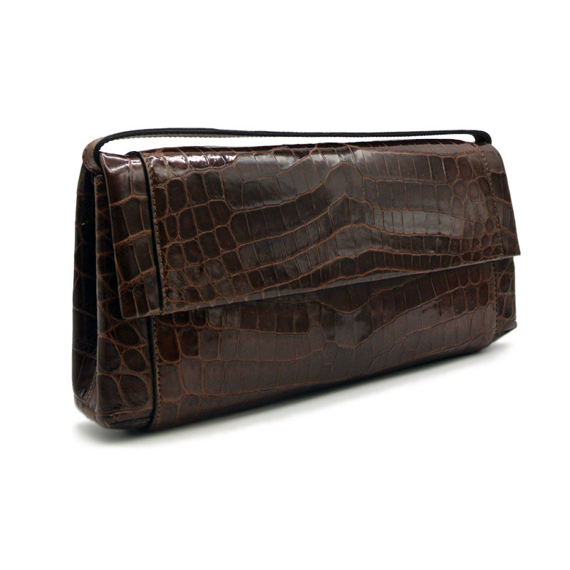 30-661-TAB THE OLIVIA Gracen Nile Crocodile Handbag, Tobacco