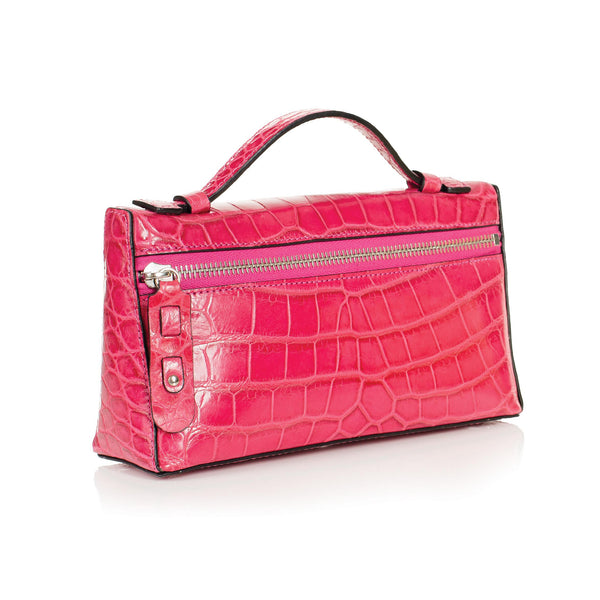 THE SOPHIE Gracen Nile Crocodile Handbag, Pink