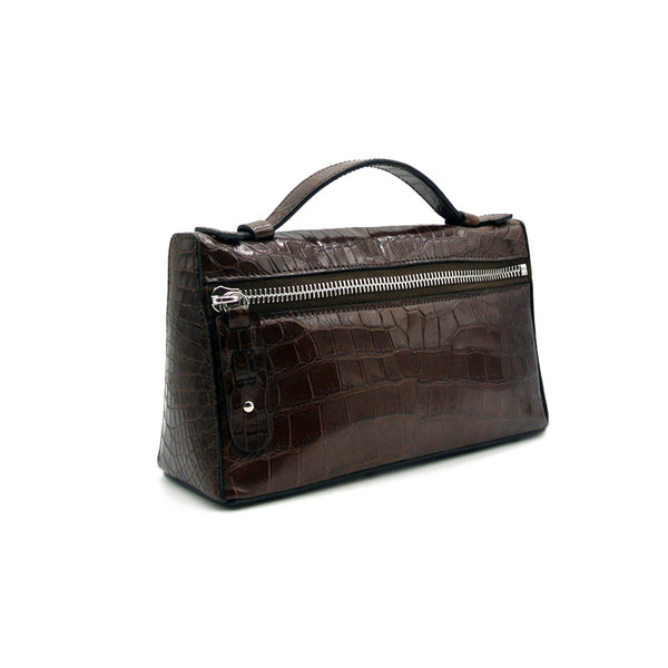 30-662-TAB THE SOPHIE Gracen Nile Crocodile Handbag, Tobacco
