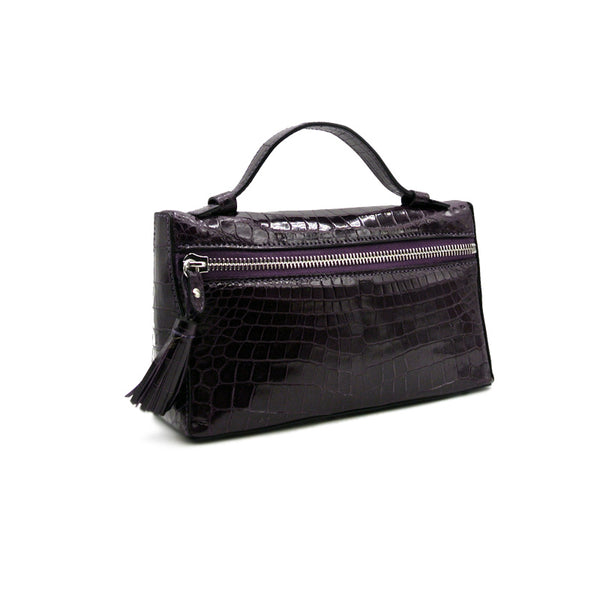 30-662-VIO THE SOPHIE Gracen Nile Crocodile Handbag, Violet