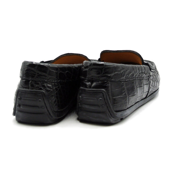 32-102-BLK MONZA Nile Crocodile Driver, Black