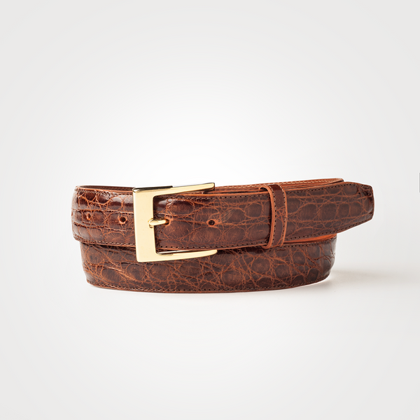 CROCODILE BELT Cognac