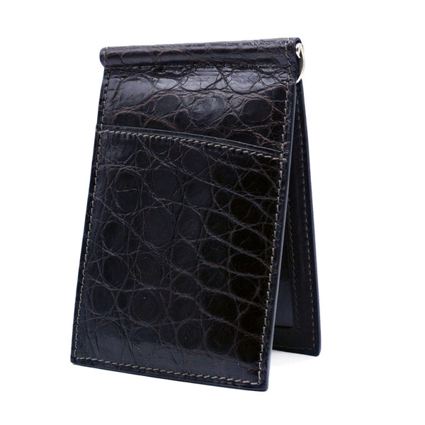 40-670-NIC Gracen Crocodile Money Clip, Nicotine