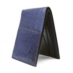 40-671-BLU Gracen Crocodile Bifold, Blue