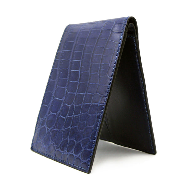 Gracen Crocodile Bifold, Blue