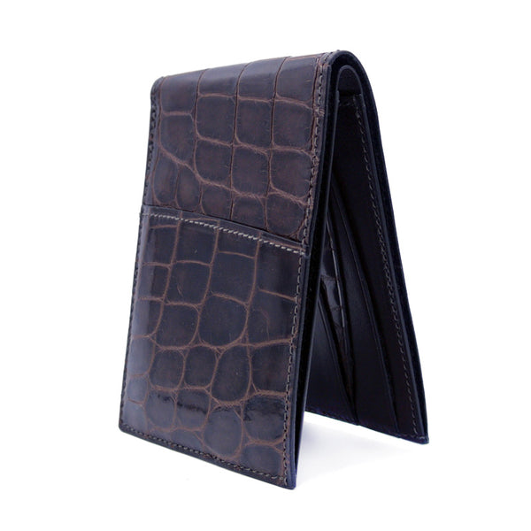 Gracen Crocodile Bifold, Brown