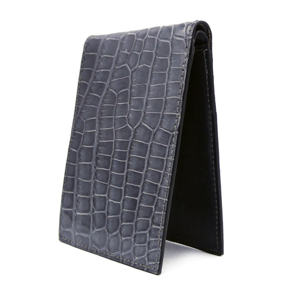Gracen Crocodile Bifold, Gray