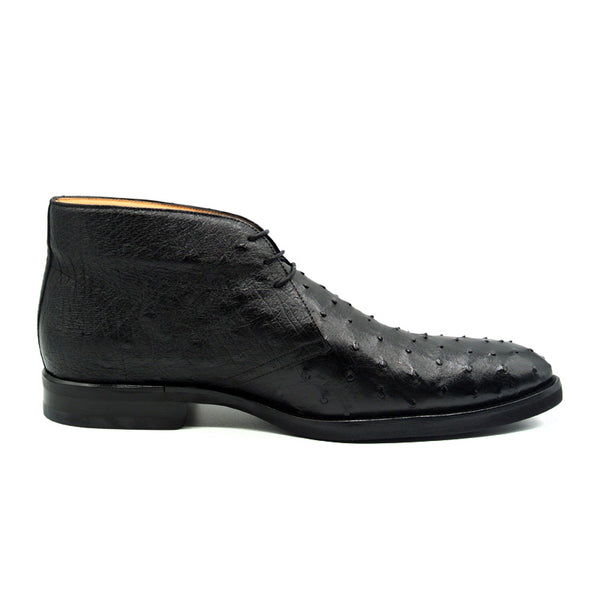 MARCO Ostrich Quill Chukka Boot, Black