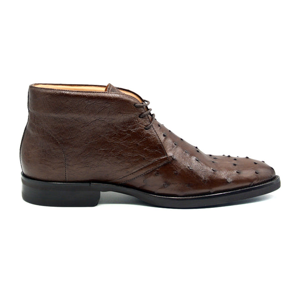 MARCO Ostrich Quill Chukka Boot, Brown