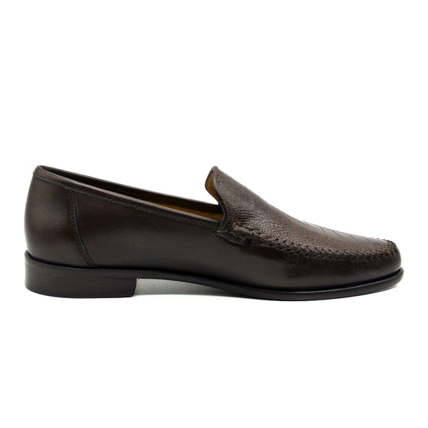 TRIESTE Ostrich Leg and Italian Calfskin Brown