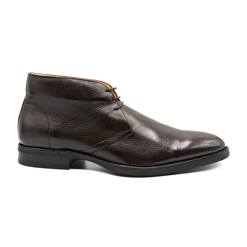 48-590-DBR MARCO Deerskin Chukka Boot, Dark Brown