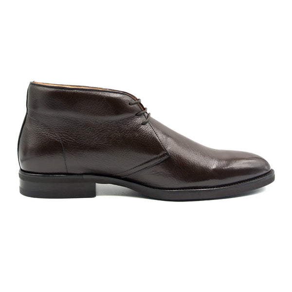 MARCO Deerskin Chukka Boot, Dark Brown