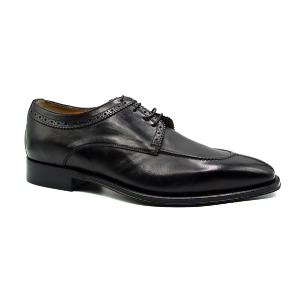 591BL MARIO Italian Calfskin Lace Up, Black