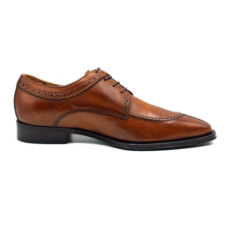 591BR MARIO Italian Calfskin Lace Up, Brown