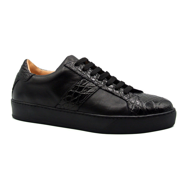 LUCA Italian Calfskin with Crocodile Toe, Black