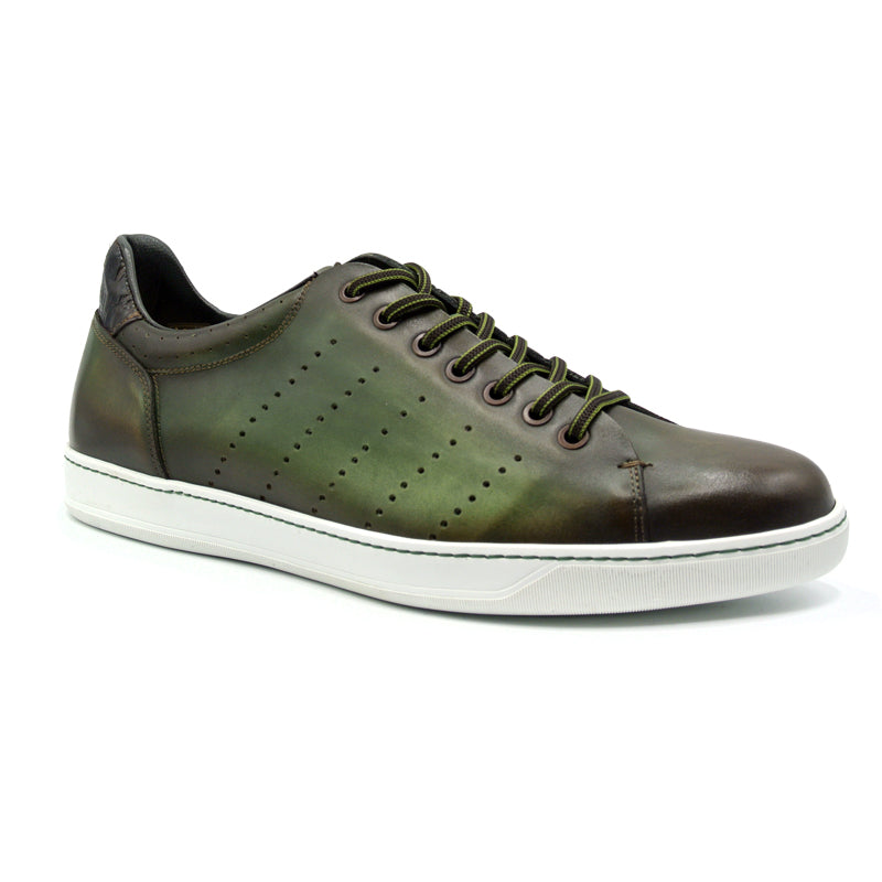 65-201-NVY RUSSO Burnished Italian Calfskin - Olive