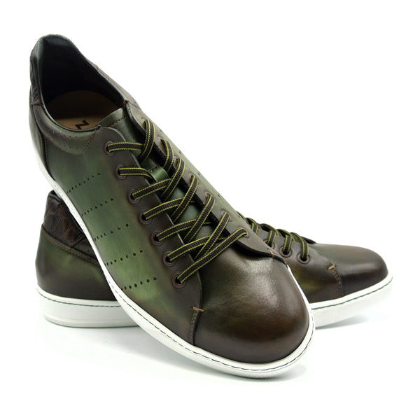 RUSSO Burnished Italian Calfskin - Olive