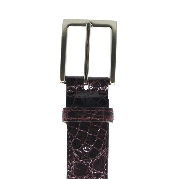 70-100-BDX ALLIGATOR Belt, Bordeaux