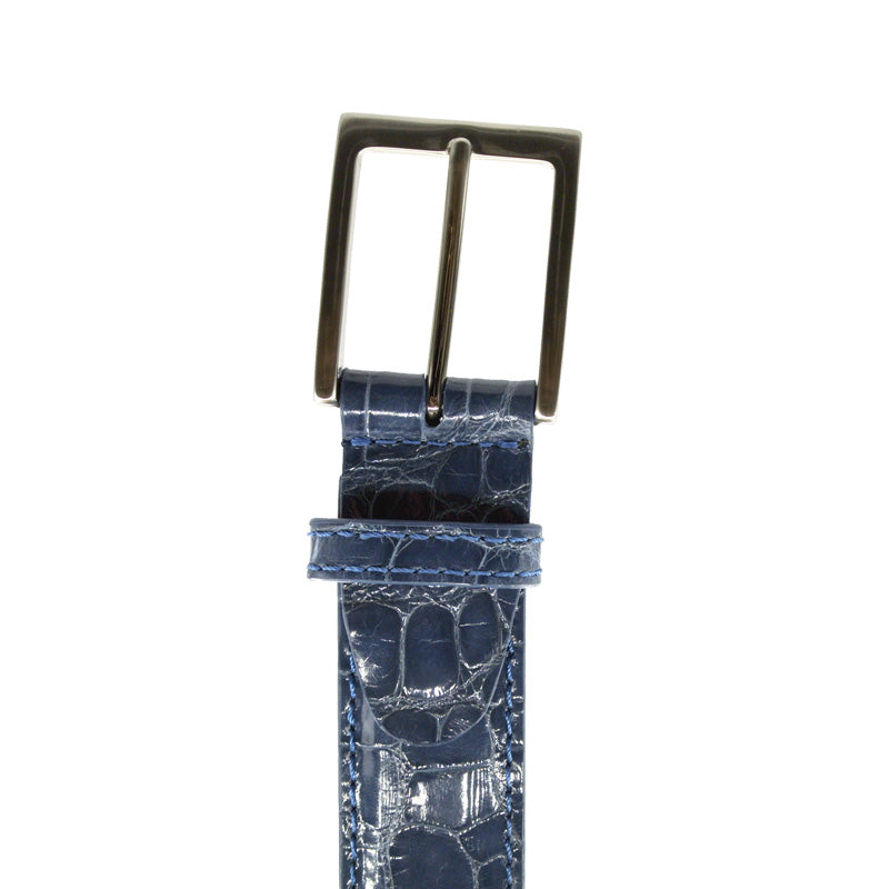 70-100-DNM ALLIGATOR Belt, Denim