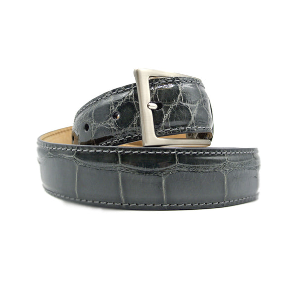 70-100-GRY ALLIGATOR Belt, Grey