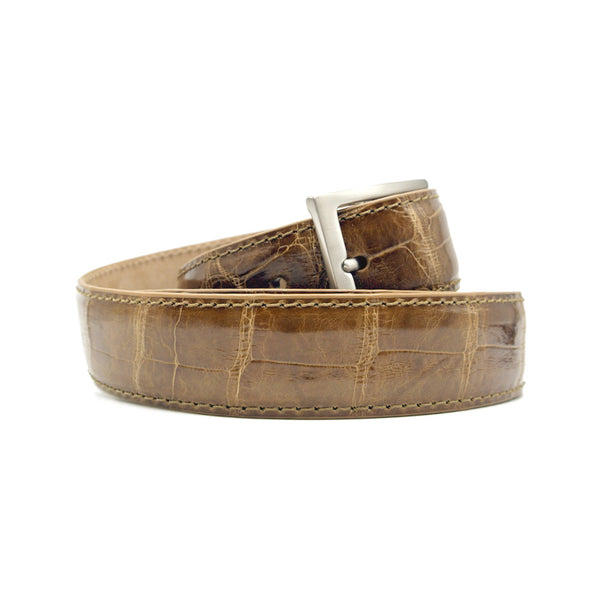 70-100-HNY ALLIGATOR Belt, Honey