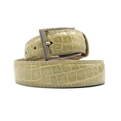 70-100-IVR ALLIGATOR Belt, Ivory