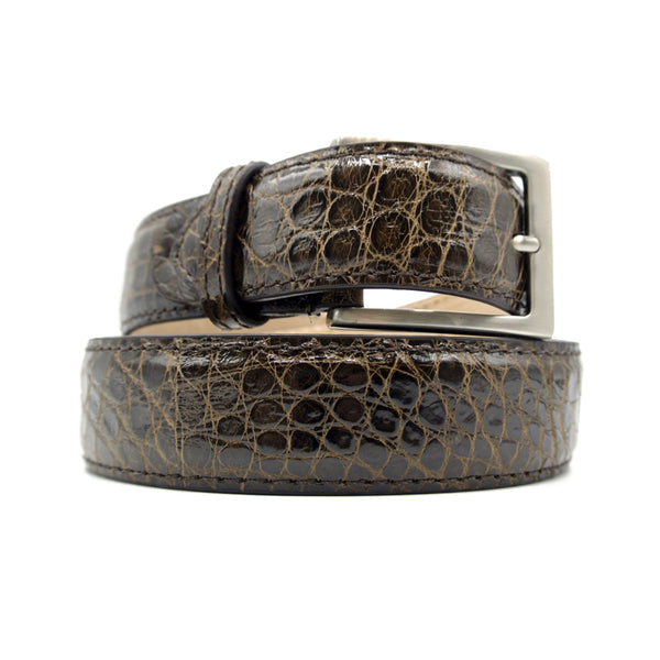 70-100-NIC ALLIGATOR Belt, Nicotine