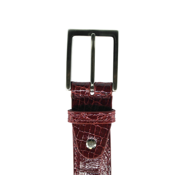 70-100-RED ALLIGATOR Belt, Red
