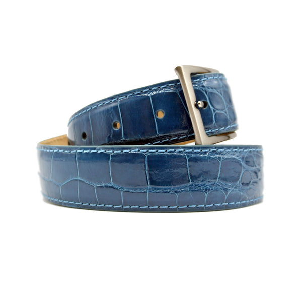 ALLIGATOR Belt, Turquoise