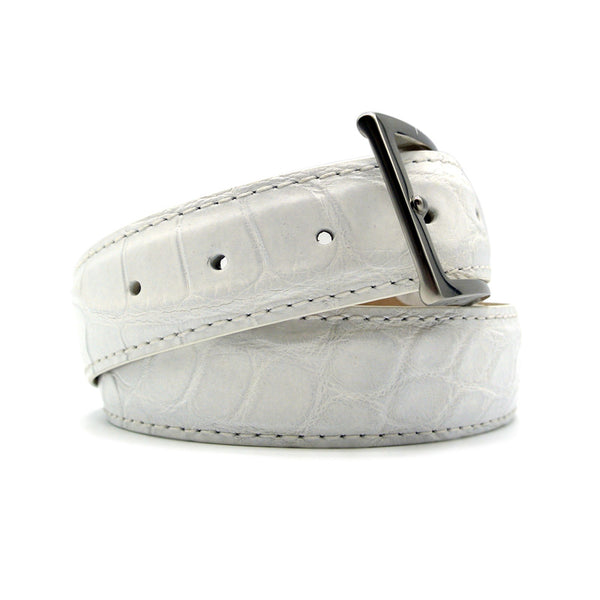 70-100-WHT ALLIGATOR Belt, White