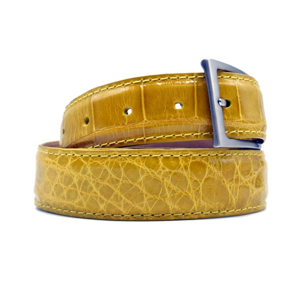 70-100-YEL ALLIGATOR Belt, Yellow