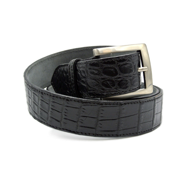 NILE Crocodile Belt, Black