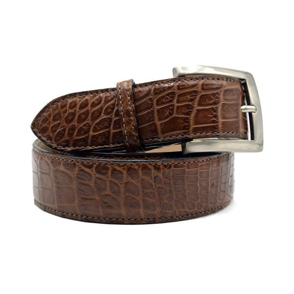 NILE Crocodile Belt, Cognac