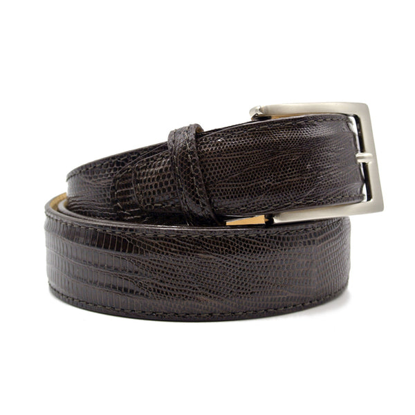 74-350-BRN BELT TEJU LIZARD, Brown