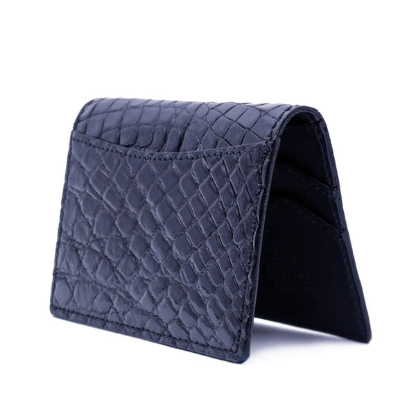 O-81-500-BLK CROCODILE Card Case, Black