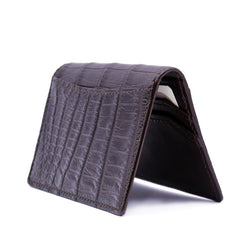 O-81-500-BRM CROCODILE Card Case, Brown Matte
